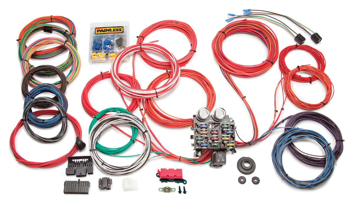 21 circuit classic customizable trunk mount chassis harness painless movie circuit street legal race car harness