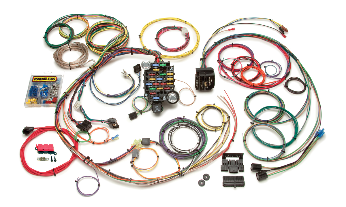 24 circuit classic plus customizable 1967 68 camaro firebird harness Painless Wiring Harness Car