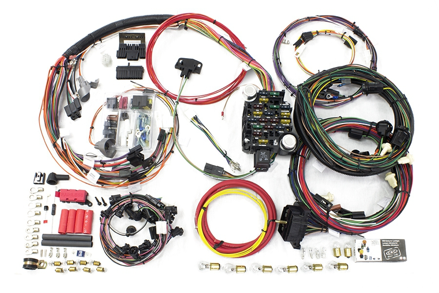 26 circuit direct fit 1970-72 chevelle / malibu harness by painless  performance