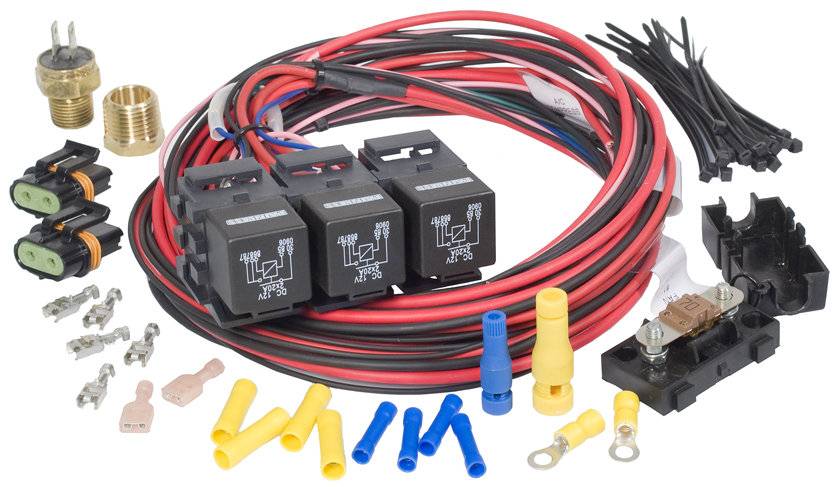 dual fandual activation fan relay kit 185 degrees f on/175