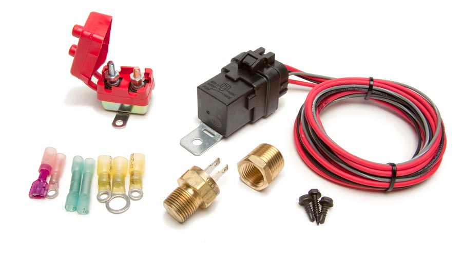 weatherproof fan relay kit w/thermostatic switch 185f on/175f off by  painless performance