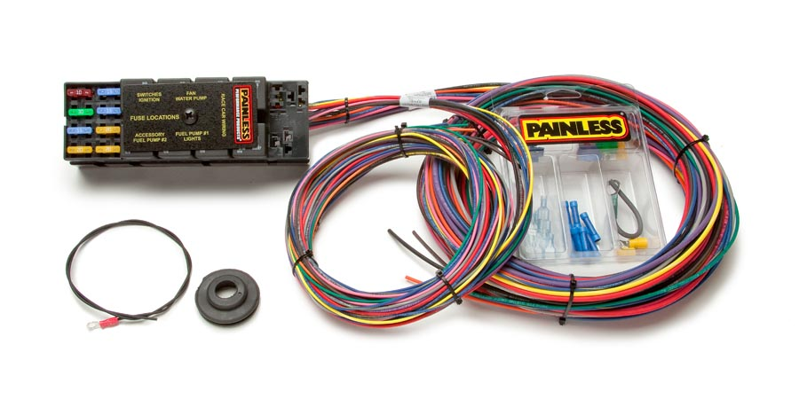 10 circuit race only chassis harness painless performance Painless Wiring Diagram Chevy 10 circuit race only chassis harness by painless performance