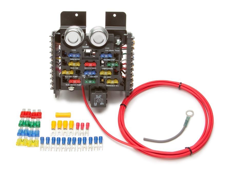 race/pro street pre-wired 16 circuit fuse block by painless performance