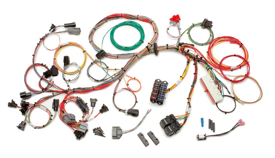 ford 1986 - 1995 5 0l fuel injection wiring harness - std  length by  painless