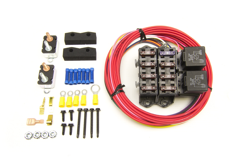 cirkit boss auxiliary fuse block/7 circuits (7 ignition 12v) | painless  performance  painless wiring
