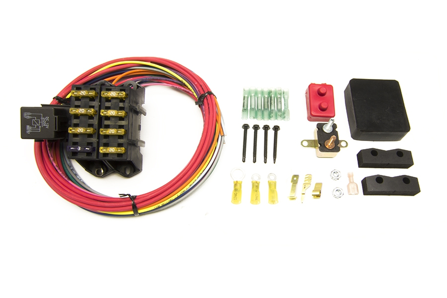 CirKit Boss Auxiliary Fuse Block/7 Circuits/Weatherproof (3 Constant - 4  Ign.) | Painless Performance | Add Circuit To Fuse Box |  | Painless Wiring